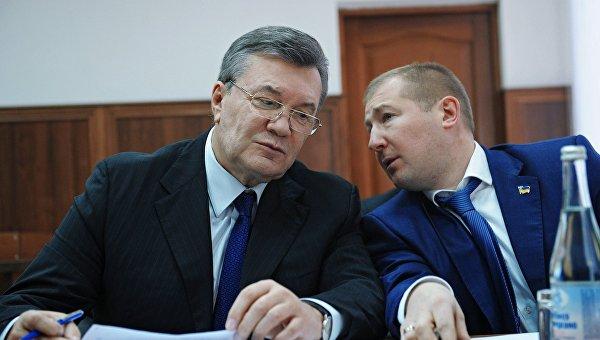 Допрос Виктора Януковича в режиме видеоконференции по делу о беспорядках в Киеве в феврале 2014 года