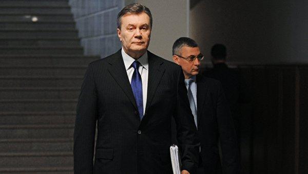Допрос Виктор Януковича в качестве свидетеля по делу о беспорядках в Киеве в феврале 2014 года