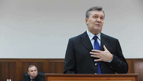 Допрос Виктора Януковича в режиме видеоконференции