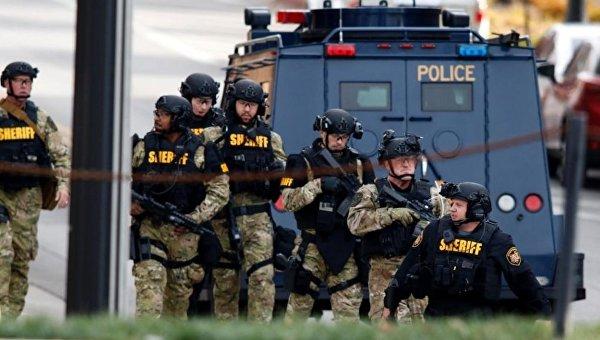 Полиция на месте нападения в Университете Огайо