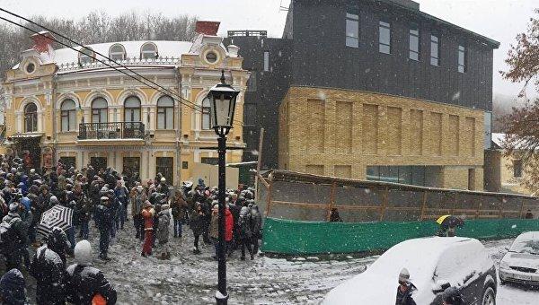Открытие фасада Театра на Подоле в Киеве