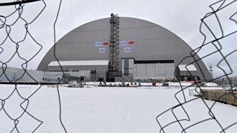 Арка над объектом Укрытиена ЧАЭС