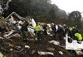 На месте крушения самолета, на борту которого были футболисты Шапекоэнсе, в Колумбии