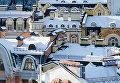 Заснеженные дома в центре Киева