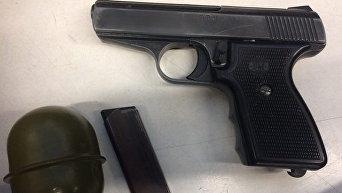Граната и пистолет, обнаруженные у серийного вора