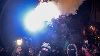 Вече и шествие к третьей годовщине штурма Администрации Януковича в Киеве