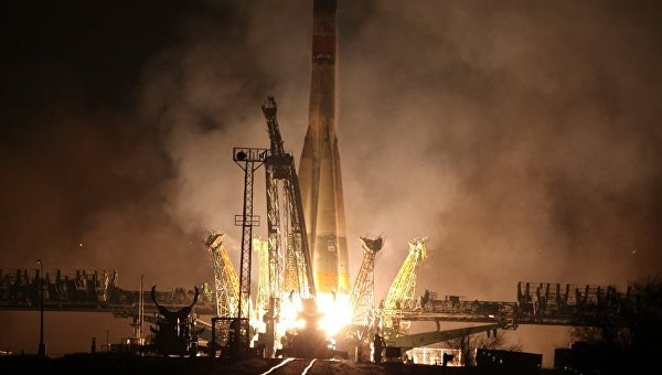 Ракета-носитель Союз-У с грузовым космическим кораблем. Архивное фото