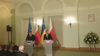 Пресс-конференция Порошенко и Дуды