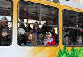 Трамвай в Киеве. Архивное фото
