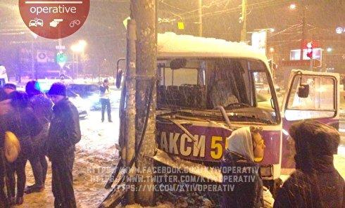 ДТП с маршруткой в Киеве