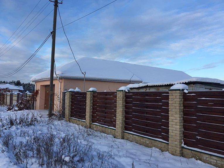 Место перестрелки в Киевской области между сотрудниками полиции и ГСО