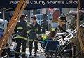 Спасатели на месте пожара в ночном клубе Окленда