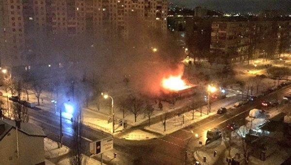 ВКиеве произошел сверепый пожар