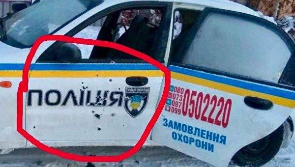 Опубликована новая фотография расстрелянной в Княжичах машины полиции