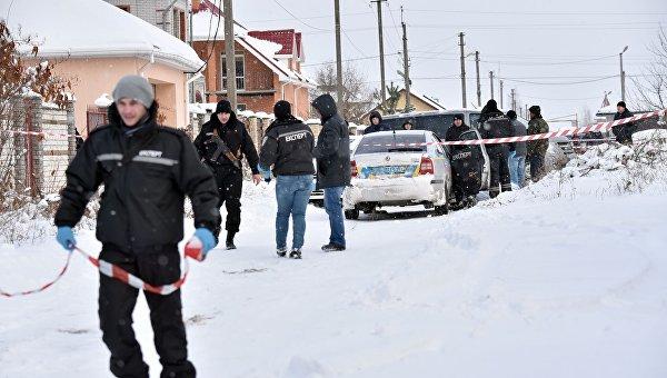 На месте перестрелки и гибели полицейских в Княжичах