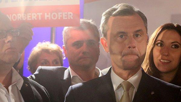 Выборы в Австрии: лидер право-националистической Партии свободы Норберт Хофер