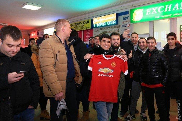 Болельщики Манчестер Юнайтед в Одессе