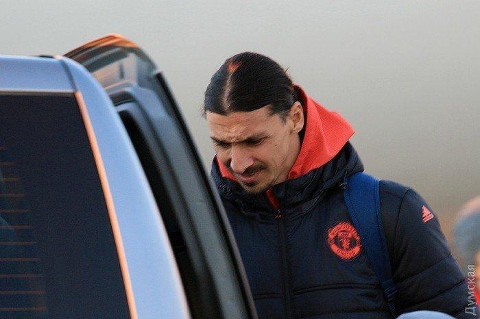 Прибытие Манчестер Юнайтед в Одессу