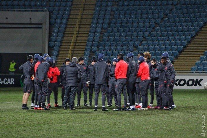 Тренировка Манчестер Юнайтед на стадионе Черноморец в Одессе