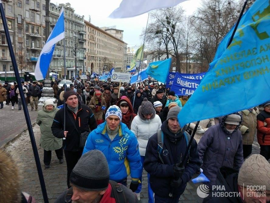 Вцентр украинской столицы стянули 2,5 тыс. правоохранителей