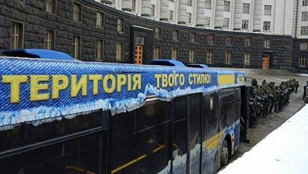 Милиция усилила присутствие вцентре украинской столицы из-за задуманных митингов