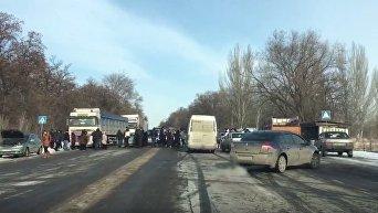 Забастовка на трассе Харьков-Симферополь. Видео