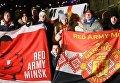 Марш английских болельщиков в Одессе в оцеплении полиции. Видео