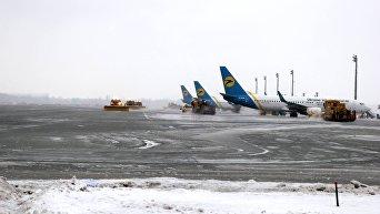 Аэропорт Борисполь зимой. Архивное фото