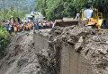 Оползень в Боливии в результате массированных дождей