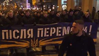 Факельное шествие Азова в Харькове. Видео