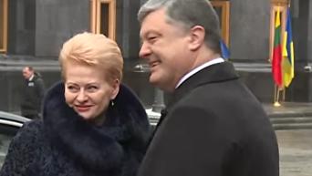 Встреча Порошенко и Грибаускайте