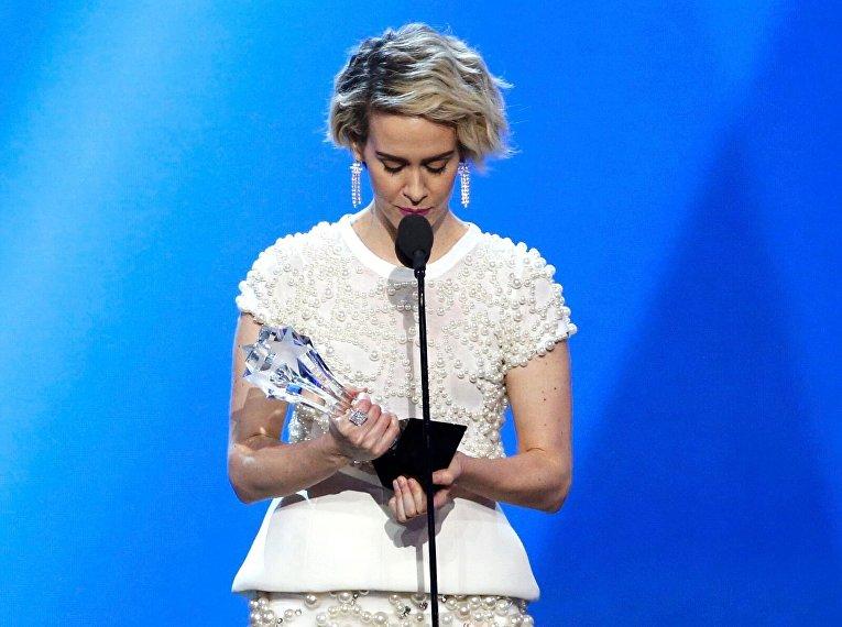 Сара Полсон на вручении премии Critics Choice