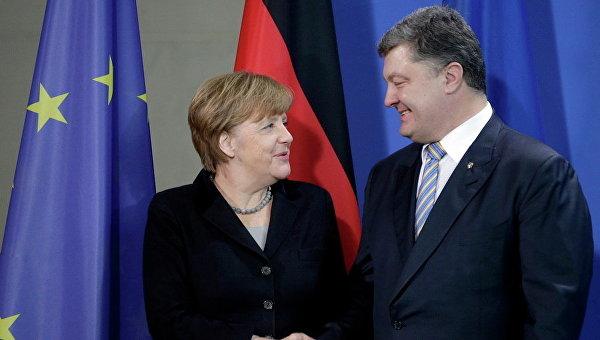 Порошенко обсудил сМеркель Донбасс, санкции, евроинтеграцию игаз