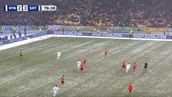 Матч 18-го тура ЧУ по футболу между Динамо и Шахтером