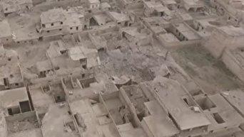 Освобожденная часть Алеппо с высоты птичьего полета. Видео