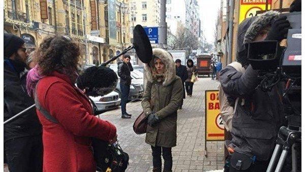 Французскую звезду Ванессу Паради увидели вцентре украинской столицы