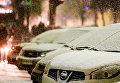 Автомобили в снегу