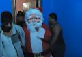 Полицейский накрыл наркопритон в Перу под видом Санта-Клауса. Видео