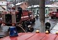 Масштабный пожар на пивзаводе в Черновцах