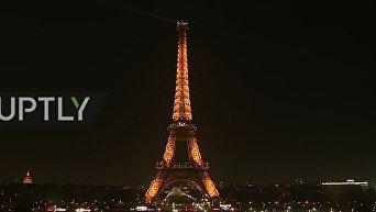 Эйфелева башня погасла в поддержку Алеппо. Видео