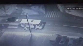 ДТП во Львове на пешеходе. Водитель скрылся. Видео