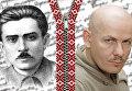 Мыкола Хвылевой и Олесь Бузина. Коллаж
