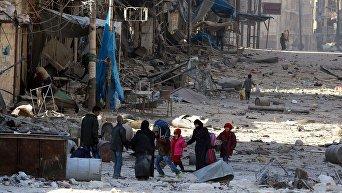 Гуманитарный кризис в Алеппо и эвакуация местного населения