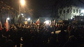 Протесты оппозиции в Польше