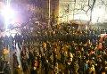 Протест оппозиции у стен польского парламента
