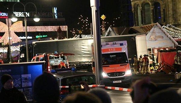 Наезд грузовика на толпу людей в Берлине