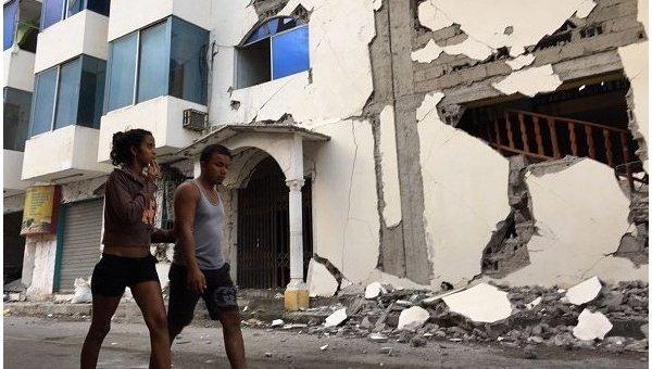В Эквадоре произошло мощное землетрясение: более 50 пострадавших