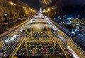 Торжественное зажжение главной елки страны на Софийской площади в Киеве