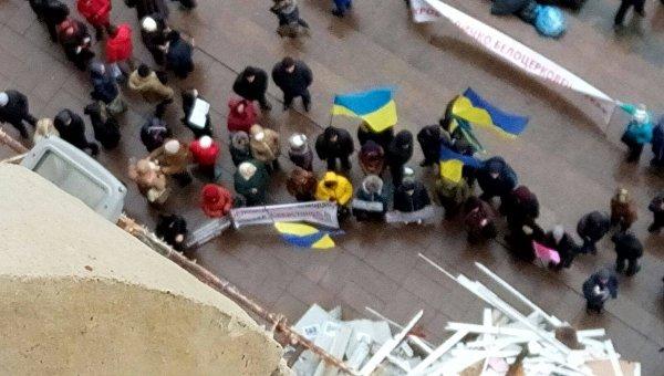Протест владельцев киосков под КГГА