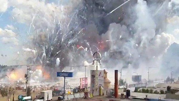 Взрыв на фабрике пиротехники в Мексике